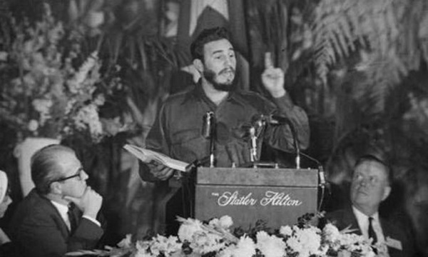 Fidel Castro speaking at the 1959 ASNE Convention